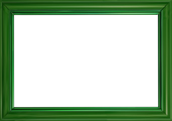 green frame illustration isolated on white