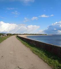 Reservoir of hydroelectric power station (Salaspils, Latvia)