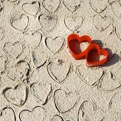 Wall Mural - Herzen am Strand