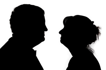 Scissors image of man and woman