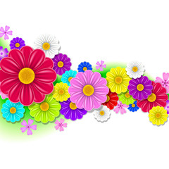 floral background of flowers