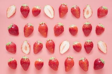 イチゴ ピンク 背景素材