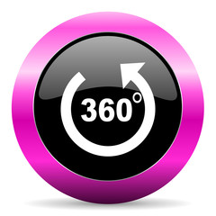 panorama pink glossy icon