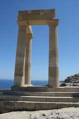 Lindos Acropolis Rhodes Island Dodecanese Greece 03