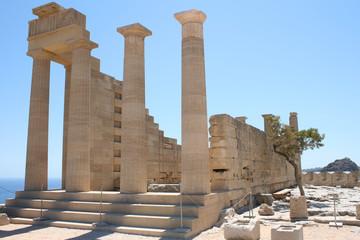 Lindos Acropolis Rhodes Island Dodecanese Greece 04