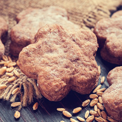 homemade cookies, vintage stylized photo