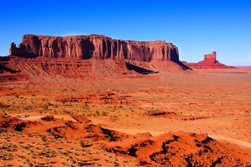 Fototapete - Iconic desert landscape at Monument Valley, Arizona, USA