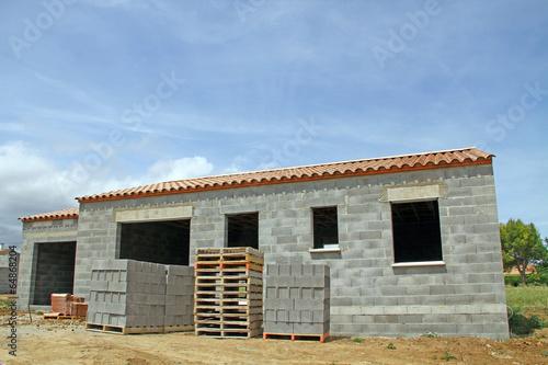 Chantier de maison individuelle stockfotos und - Acces chantier maison individuelle ...