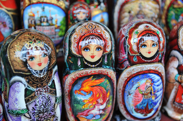 typical russian toy -Matryoshka dolls