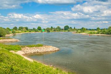The old Dutch river IJssel between Zutphen and Deventer