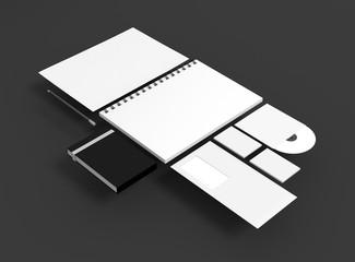 Geschäftsausstattung Papier CD Stift Hintergrund dunkel