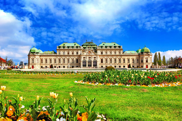 Printed roller blinds Vienna beautiful Belvedere castle, Vienna, Austria