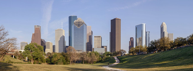 A Panorama View of Downtown Houston, Texas