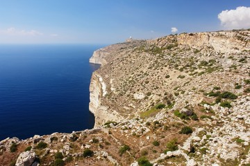 Wall Mural - View of the Dingli Cliffs in Malta