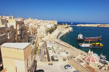 Wall Mural - View from the Valleta of the Grand Harbour