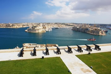 Wall Mural - View from the Valleta of the Grand Harbour, Malta