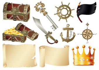 海賊 素材