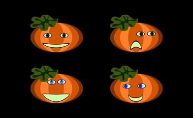 Smiling pumpkins