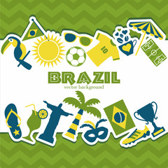 Brazil background.