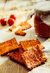 Crisp spicy Italian crackers