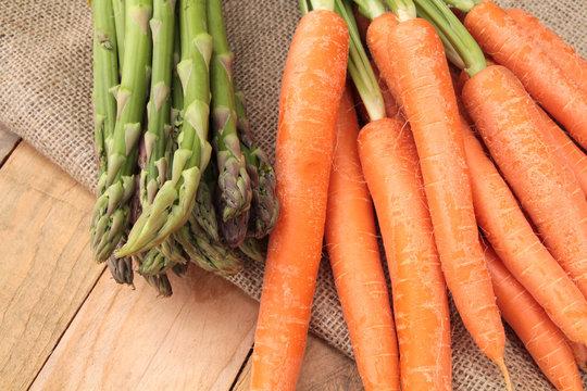 carottes et asperges