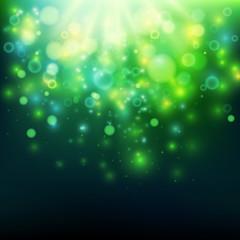 Green bokeh from deep
