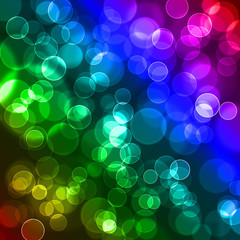 Abstract colourful bubbles.