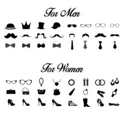 Pictos Homme et Femme