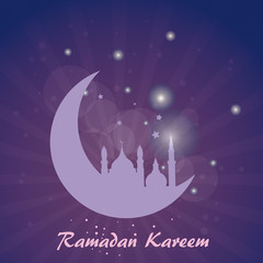 Abstract background for Ramadan Kareem, vector