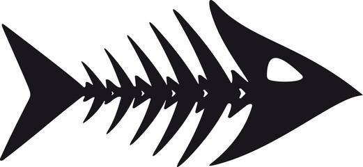 primitive fish skeleton