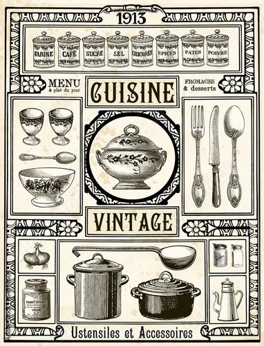 cuisine vintage fichier vectoriel libre de droits sur la banque d 39 images image. Black Bedroom Furniture Sets. Home Design Ideas