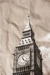 Vintage view of London, Big Ben