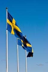 The Swedish flags