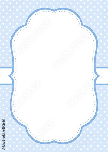 Blue polka dot invitation template with frame for your text stock blue polka dot invitation template with frame for your text stopboris Images