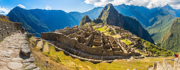 Canvas Prints South America Country Panorama of Mysterious city - Machu Picchu, Peru,South America