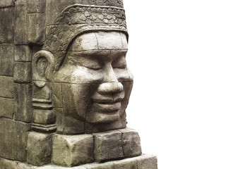 Ancient stone face statue, Bayon style