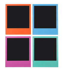 Four color Polaroid frames