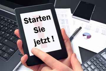 Tablet - Starten Sie Jetzt!
