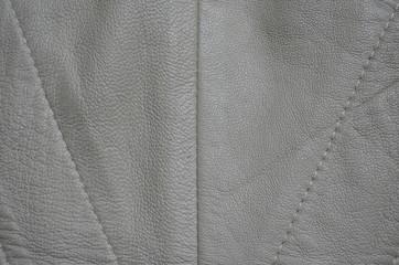 graues Leder mit Ziernähten