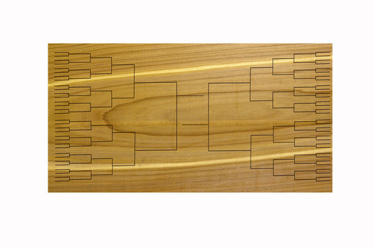 Tournament of 64 Bracket on Wood