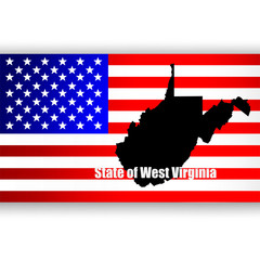 Map of the U.S. state of West Virginia