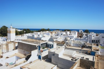 Photo sur Plexiglas Tunisie View from Medina on old city Hammamet, Tunisia