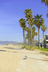 Fototapete - Beach Scene in Southern California