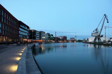 Kreativkai - the Inner harbor in Munster, Germany