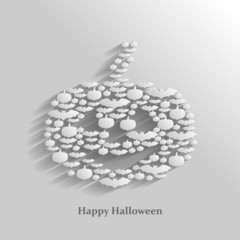 Halloween greeting background