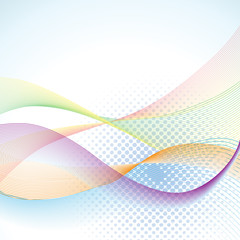 Abstract blended wavy background - illustration