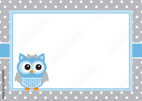 Baby boy owl invitation card template stock image and royalty baby boy owl invitation card template stopboris Choice Image