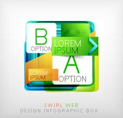 Vector square geometric shaped web design boxes
