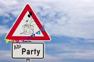 Schild ABI Party