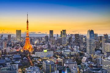 Fototapete - Tokyo Japan City Skyline